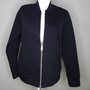 Everlane Women's Black Cotton Zip Bomber Jacket M